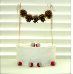 pinecone garland on cake