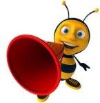 bee w megaphone